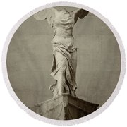 Winged Victory Of Samothrace - #15 Round Beach Towel