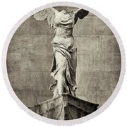 Winged Victory Of Samothrace - #7 Round Beach Towel