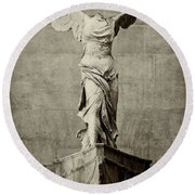Winged Victory Of Samothrace - #8 Round Beach Towel