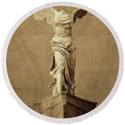 Winged Victory Of Samothrace - #5 Round Beach Towel