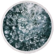 Winter Forest - Aerial Photography Round Beach Towel