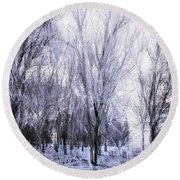 Winter Lace Round Beach Towel