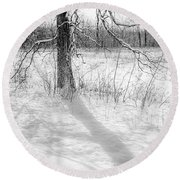 Winter Simple Round Beach Towel