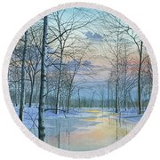 Winter Spectacle Round Beach Towel