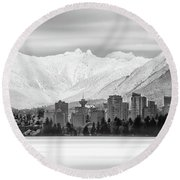 Winterscape Vancouver Round Beach Towel