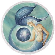 With Gratitude The Universe Is Hers Round Beach Towel