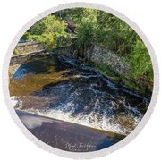 Round Beach Towel featuring the photograph Withstanding Time by Michael Hughes