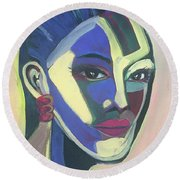 Woman Of Color Round Beach Towel