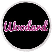 Woodard #woodard Round Beach Towel