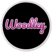 Woodley #woodley Round Beach Towel
