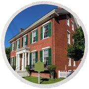 Woodrow Wilson Boyhood Home - Augusta Ga 2 Round Beach Towel