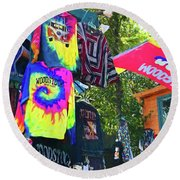 Woodstock Peace And Love 1 Round Beach Towel