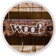 Woof Round Beach Towel