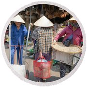 Working Women In Vietnam Round Beach Towel