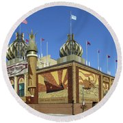Worlds Only Corn Palace 2018-19 Round Beach Towel