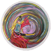 Wrapped In Love Round Beach Towel