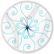 Wrought Iron Round Beach Towel