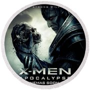 X-men Apocalypse  Round Beach Towel