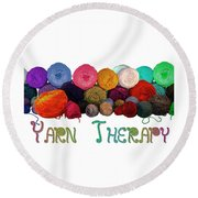 Yarn Therapy Round Beach Towel