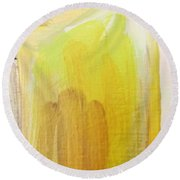 Yellow #3 Round Beach Towel