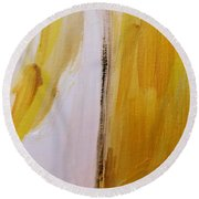 Yellow #5 Round Beach Towel