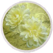 Yellow Foil Round Beach Towel