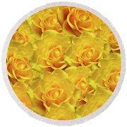 Yellow Roses Art Design Round Beach Towel