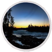Round Beach Towel featuring the photograph Yellowstone River by Pete Federico