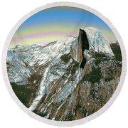 Yosemite Half Dome 2000 - Digital Artwork Round Beach Towel