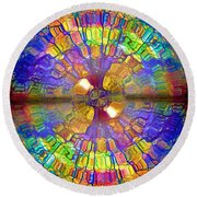 You Are Already A Kaleidoscope On The Inside Round Beach Towel