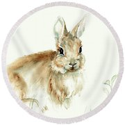 Young Rabbit Round Beach Towel