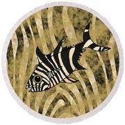 Zebra Fish 1 Round Beach Towel