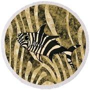 Zebra Fish 2 Round Beach Towel