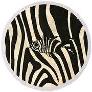 Zebra Fish 3 Round Beach Towel