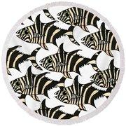 Zebra Fish 4 Round Beach Towel