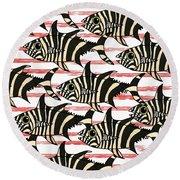 Zebra Fish 6 Round Beach Towel