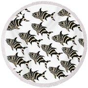 Zebra Fish 7 Round Beach Towel
