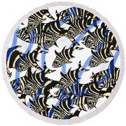 Zebra Fish 8 Round Beach Towel