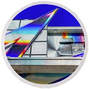 Round Beach Towel featuring the photograph Zed by Skip Hunt