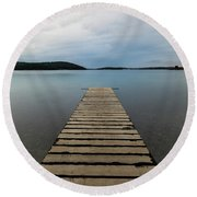 Round Beach Towel featuring the photograph Zen II by Davor Zerjav