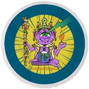 Round Beach Towel featuring the digital art Zen by Sotuland Art