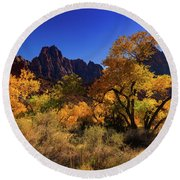 Zions Beauty Round Beach Towel
