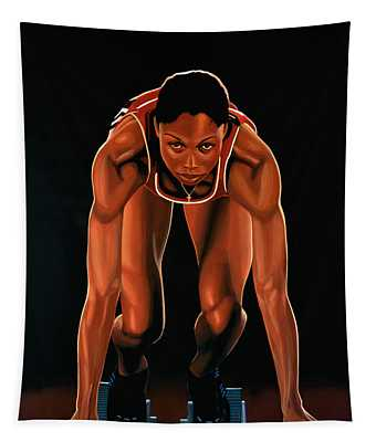 Allyson Felix Painting  Tapestry