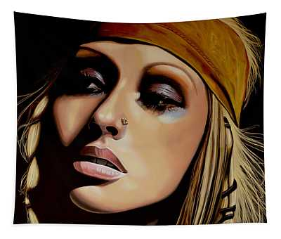 Christina Aguilera Painting Tapestry