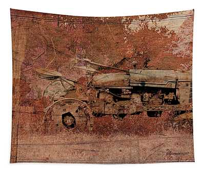 Grandpa's Old Tractor Tapestry