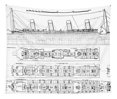 Inquiry Into The Loss Of The Titanic Cross Sections Of The Ship  Tapestry