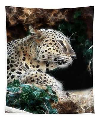 Leopard Watching It's Prey Tapestry
