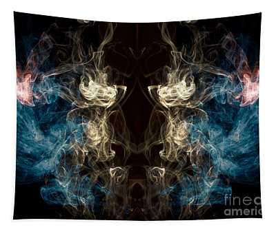 Minotaur Smoke Abstract Tapestry