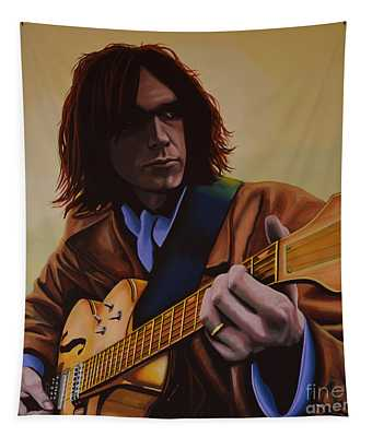 Neil Young Painting Tapestry