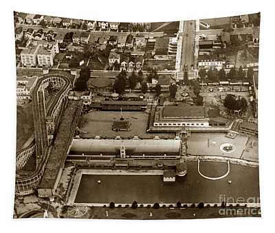 Neptune Beach Olympic Size Swimming Pool And A Roller Coaster Alameda Circa 1920 Tapestry